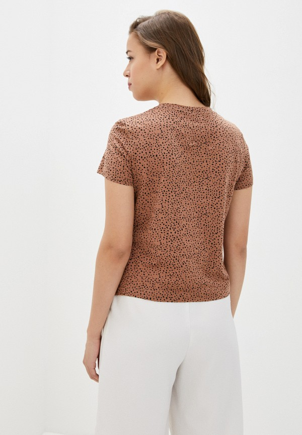 Фото 3 - Женскую футболку Befree коричневого цвета