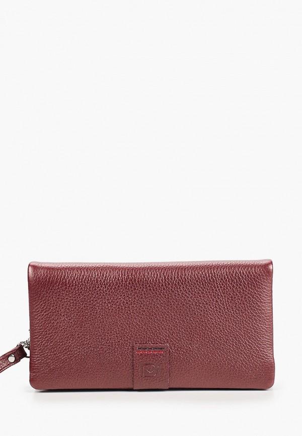 женский кошелёк d.morelli, бордовый