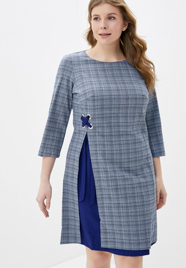женское платье мини viserdi, серое