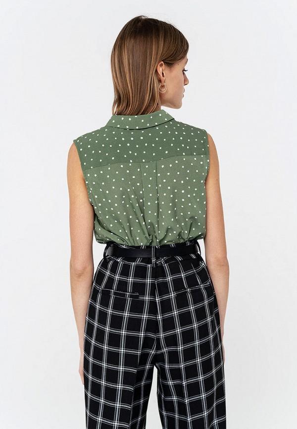 Фото 2 - Женскую блузку Befree зеленого цвета