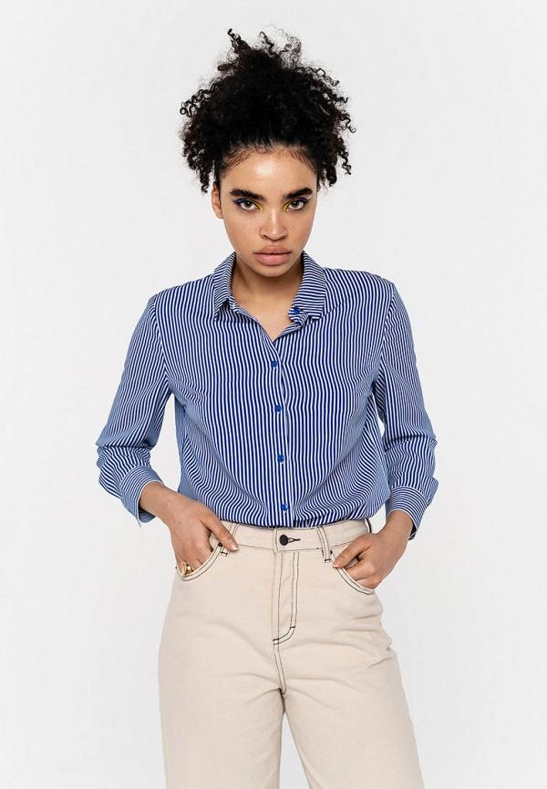 Фото - Женскую рубашку Befree синего цвета