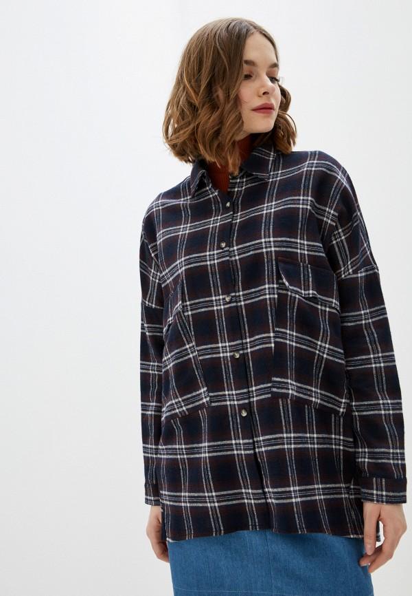 женская рубашка с длинным рукавом trends brands, синяя