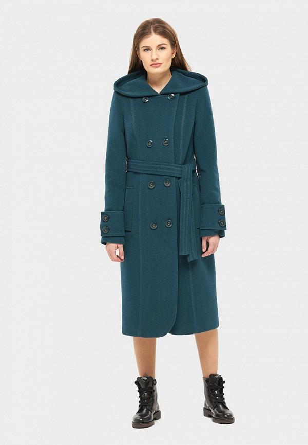 женское пальто danna, зеленое