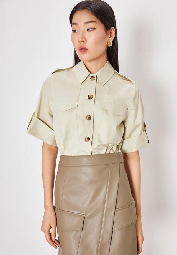 женская рубашка с коротким рукавом lime, хаки