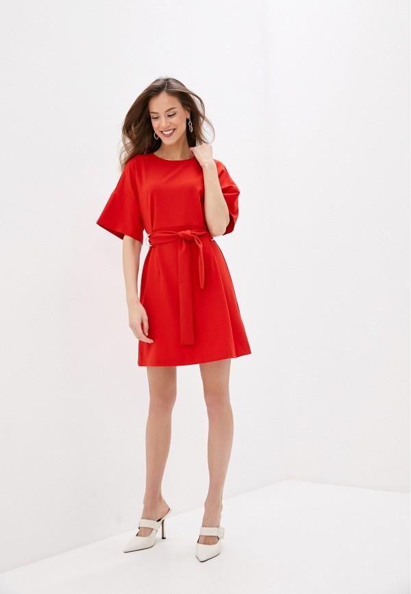 Фото 2 - Женское платье Befree красного цвета