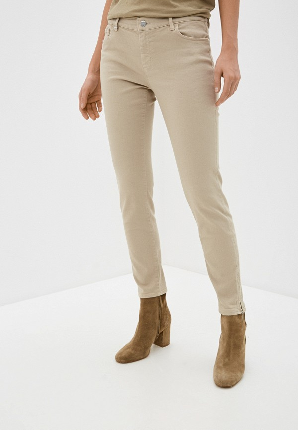 женские джинсы скинни boss, бежевые