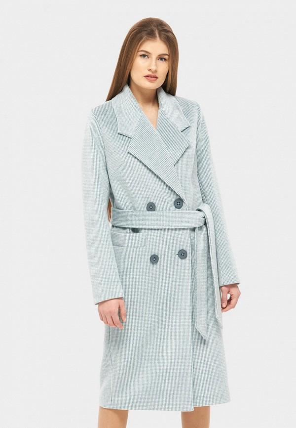 женское пальто danna, голубое