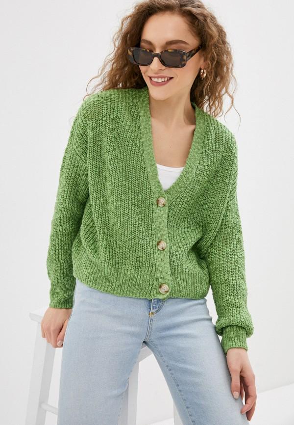 женский кардиган sela, зеленый
