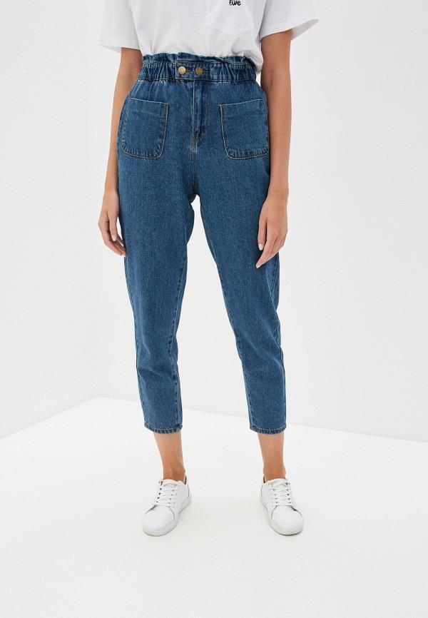 женские джинсы-мом sela, синие