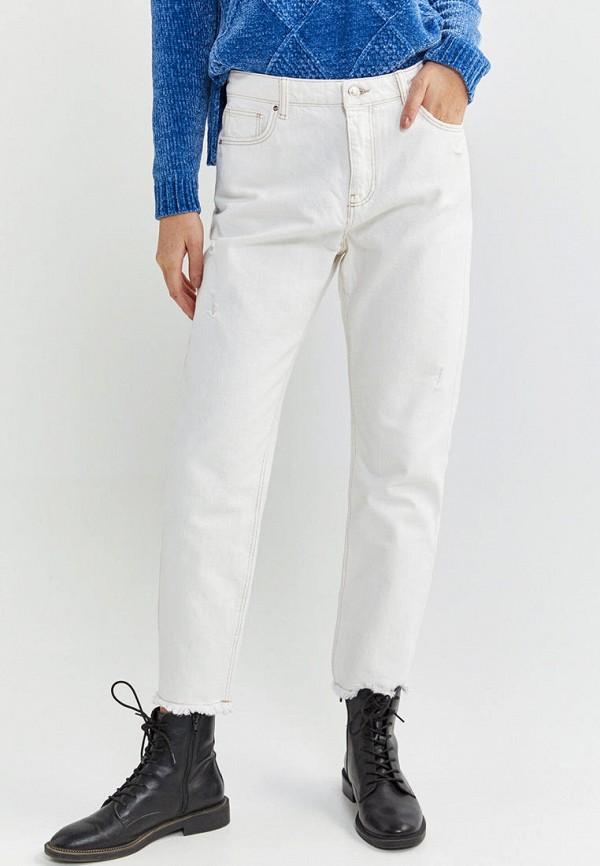 женские прямые джинсы springfield, белые