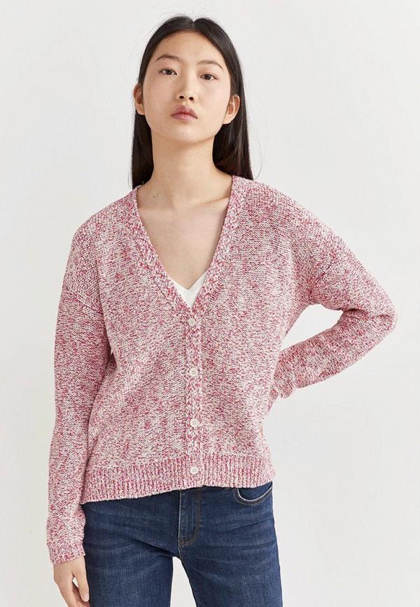 женский кардиган springfield, розовый