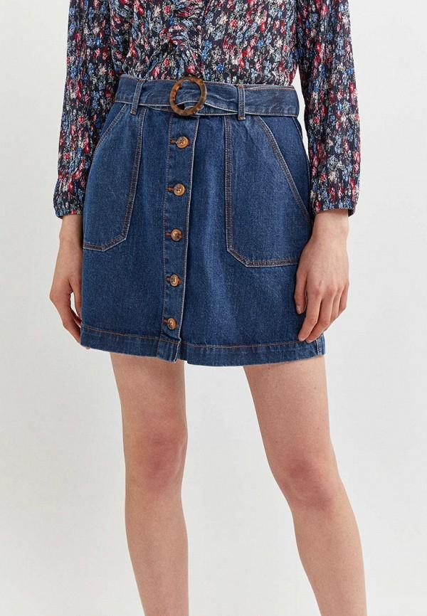 женская джинсовые юбка springfield, синяя