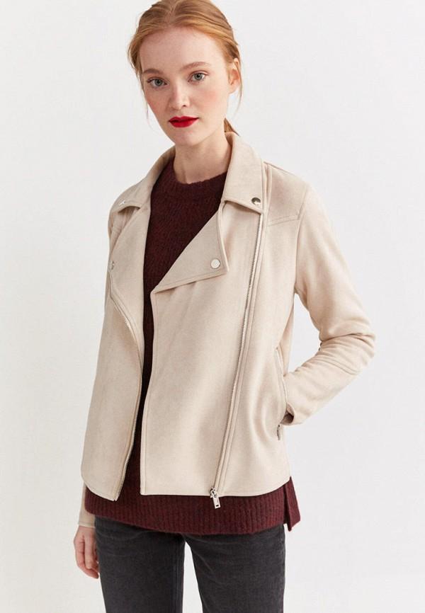 женская куртка springfield, бежевая