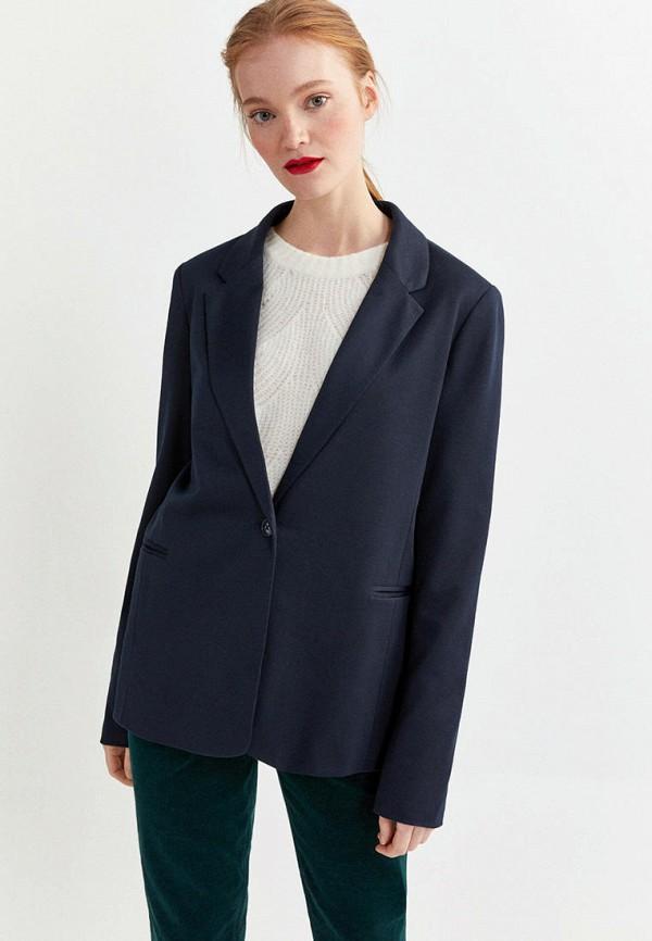 женский пиджак springfield, синий