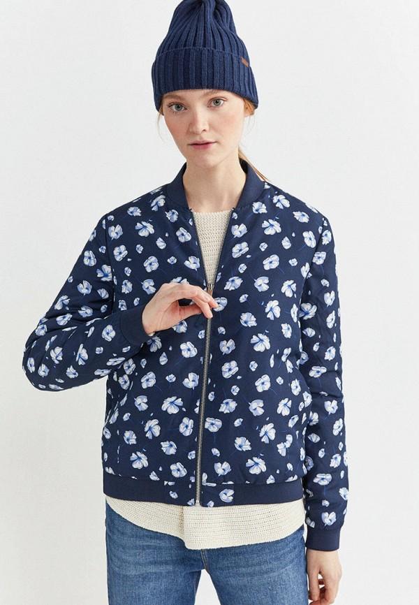 женская куртка springfield, синяя