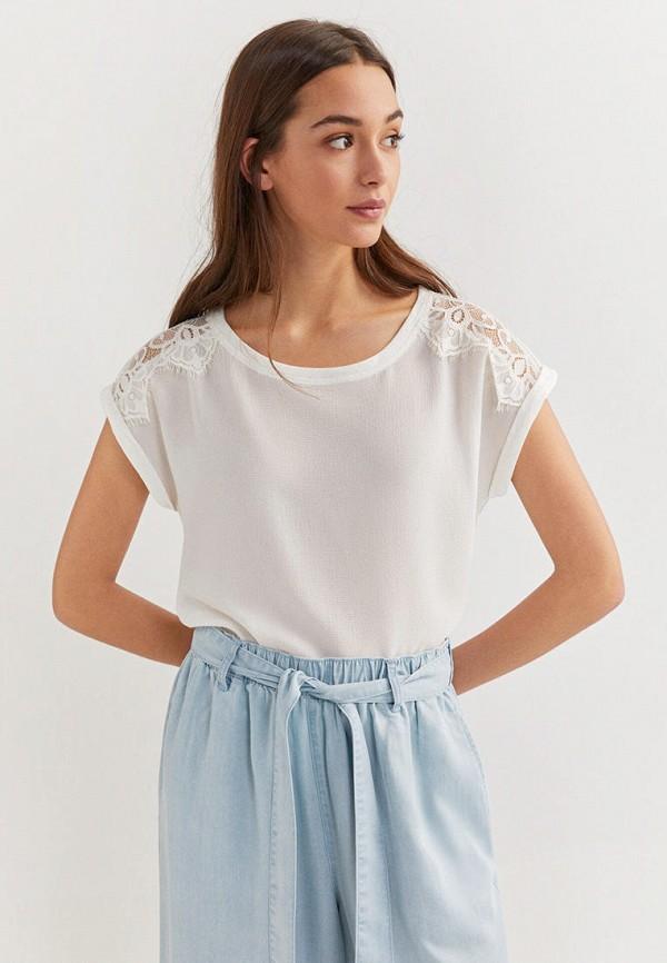 женская блузка springfield, белая