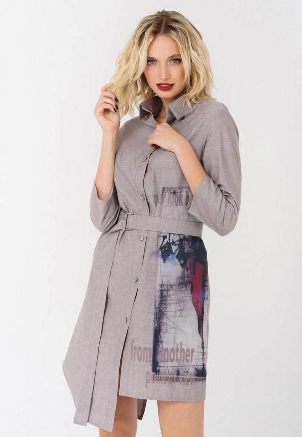 женское платье ricamare, серое