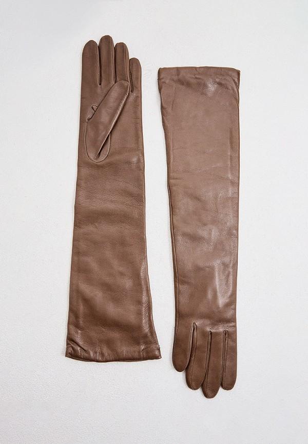 женские кожаные перчатки sermoneta gloves, бежевые