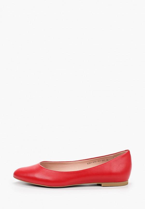 женские балетки giotto, красные