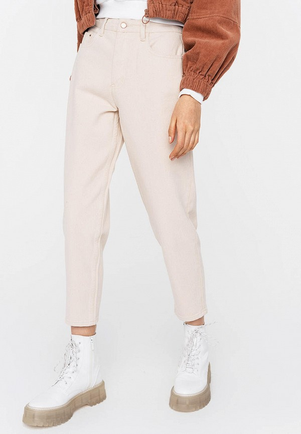 женские прямые джинсы befree, бежевые