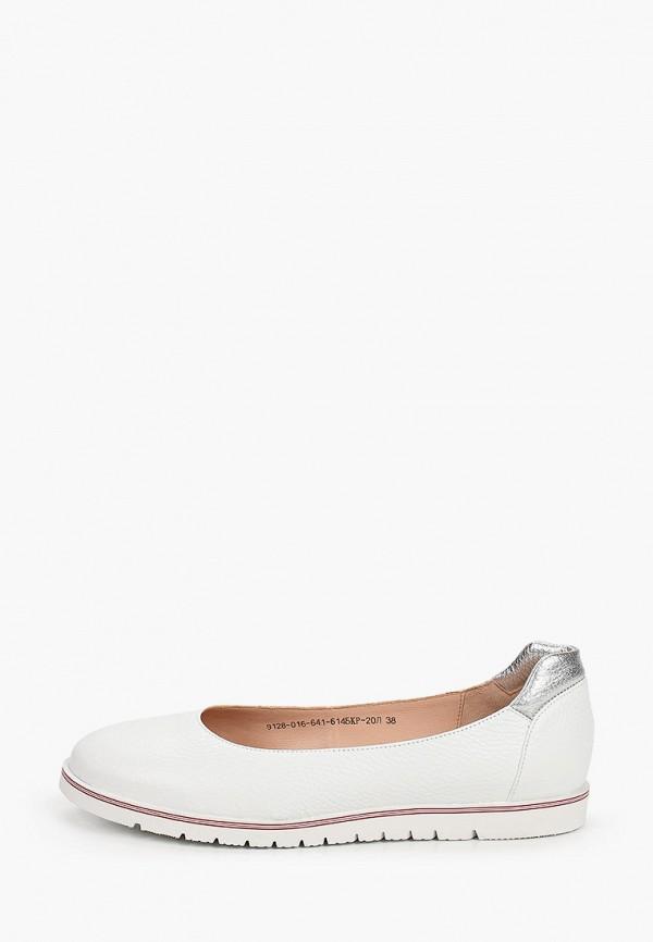 женские туфли с закрытым носом giotto, белые