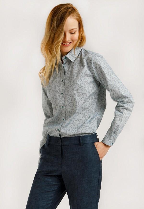 женская рубашка с длинным рукавом finn flare, голубая