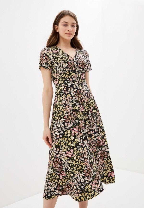Фото 2 - Женское платье Befree черного цвета