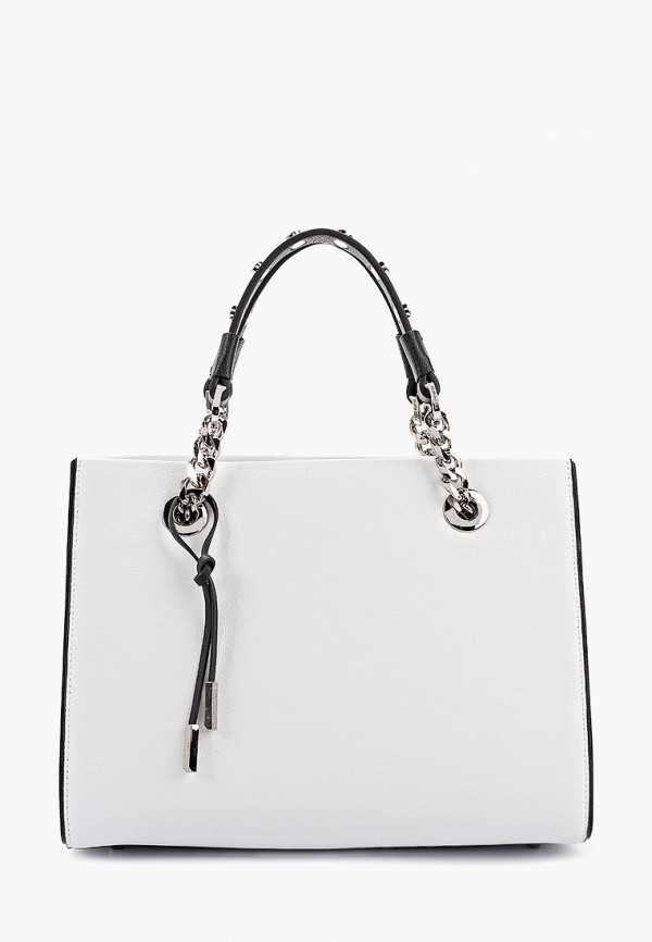 женская сумка с ручками eleganzza, белая