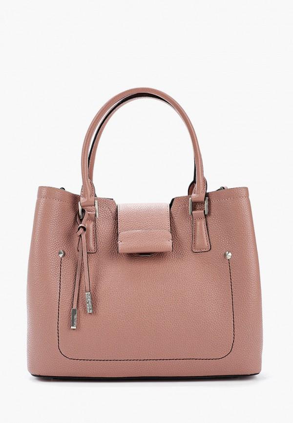 женская сумка через плечо eleganzza, розовая