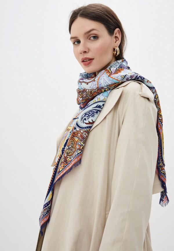 Фото 3 - Женский платок Eleganzza голубого цвета