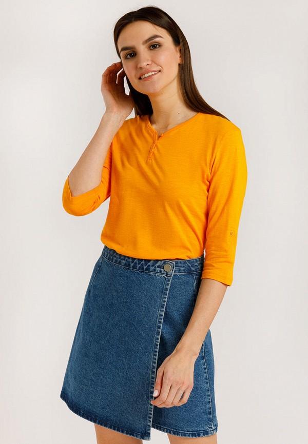 Лонгслив Finn Flare оранжевого цвета