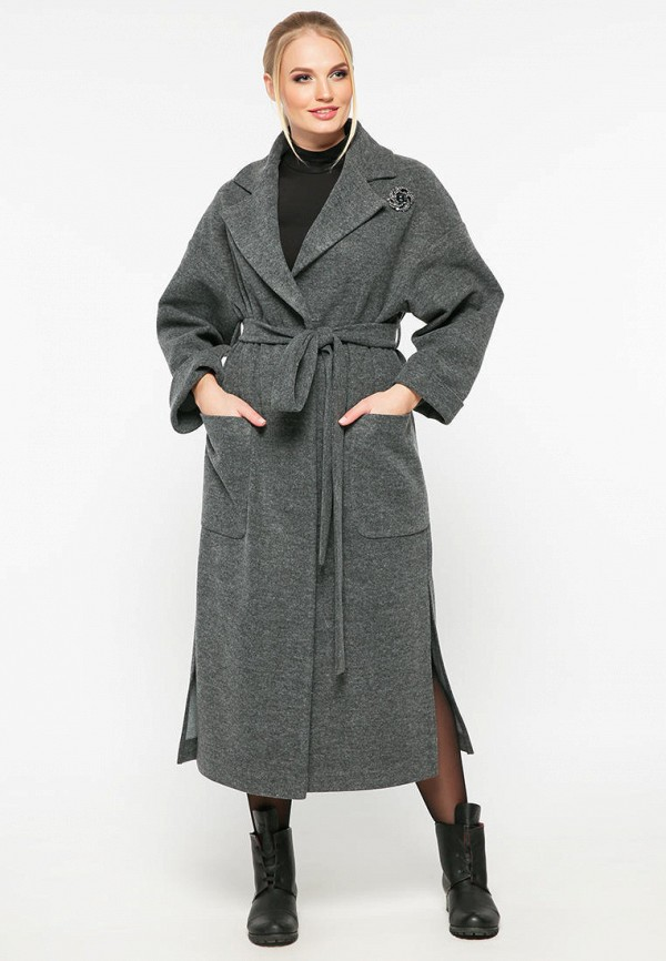 женское пальто vlavi, серое