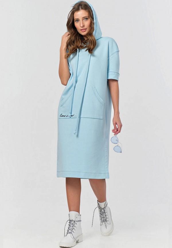 женское платье-толстовки fly, голубое
