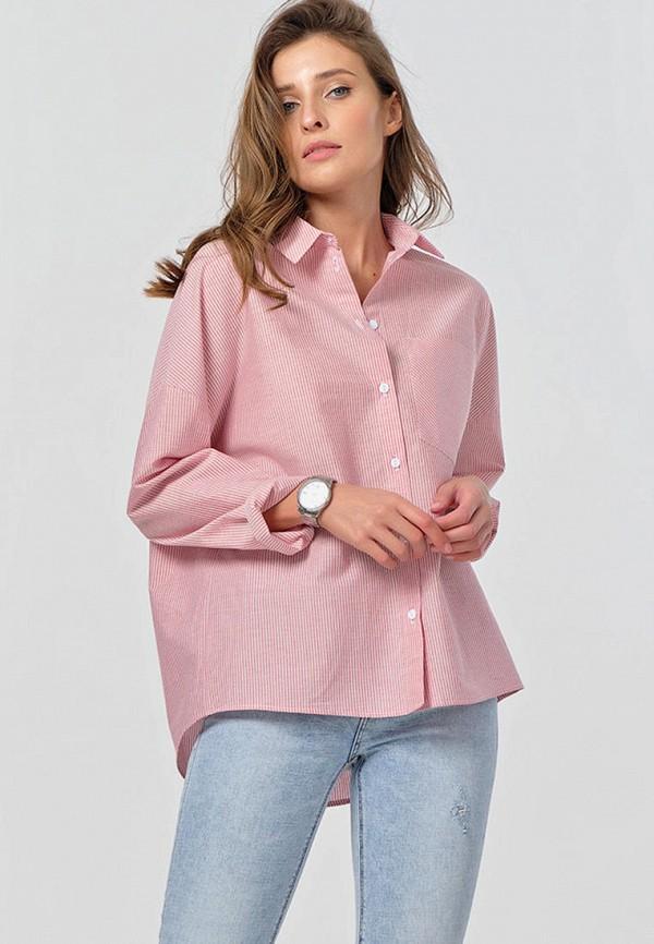 женская рубашка с длинным рукавом fly, розовая