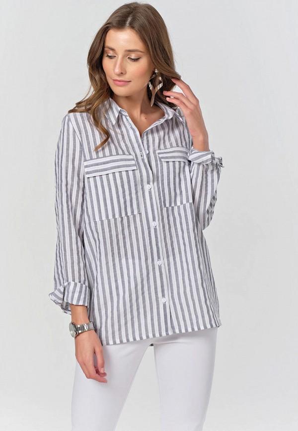 женская рубашка с длинным рукавом fly, серая