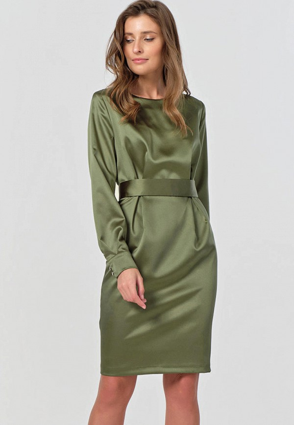 женское повседневные платье fly, зеленое