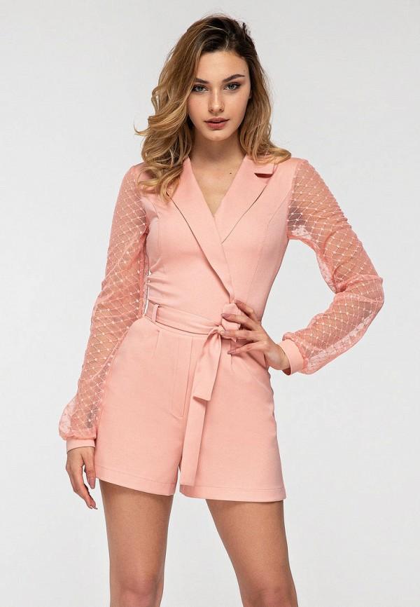 женский комбинезон itelle, розовый