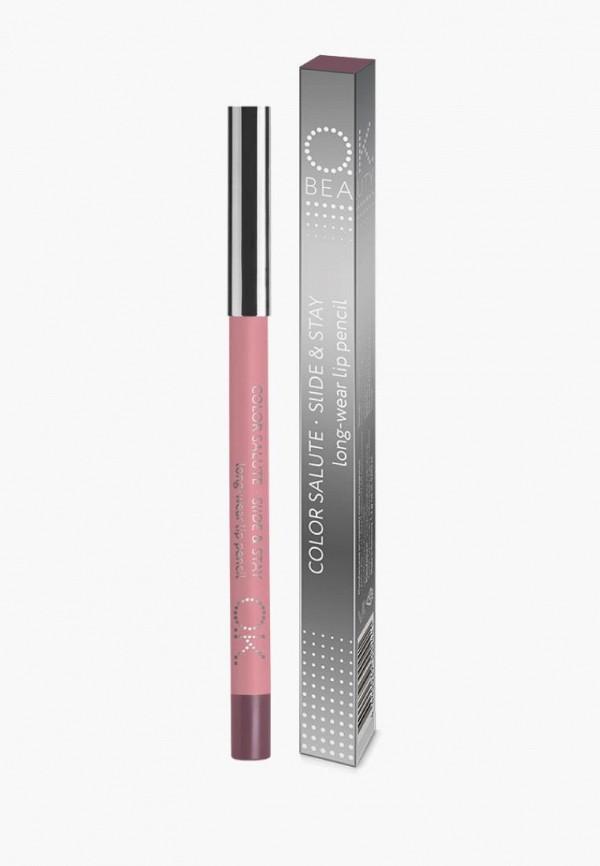 женский карандаш для губ ok beauty, коричневый