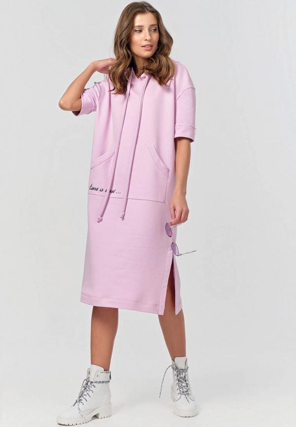 женское платье-толстовки fly, розовое