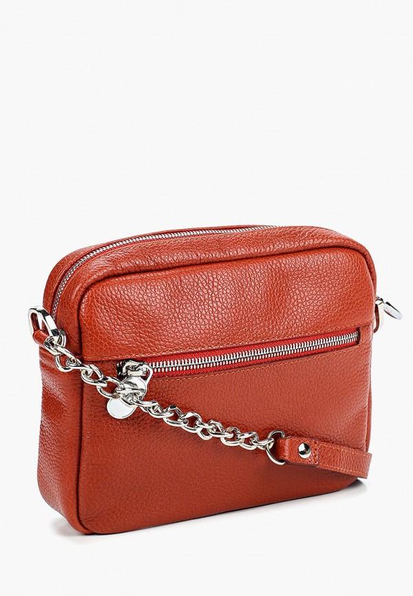 Фото 2 - Женскую сумку Franchesco Mariscotti кораллового цвета