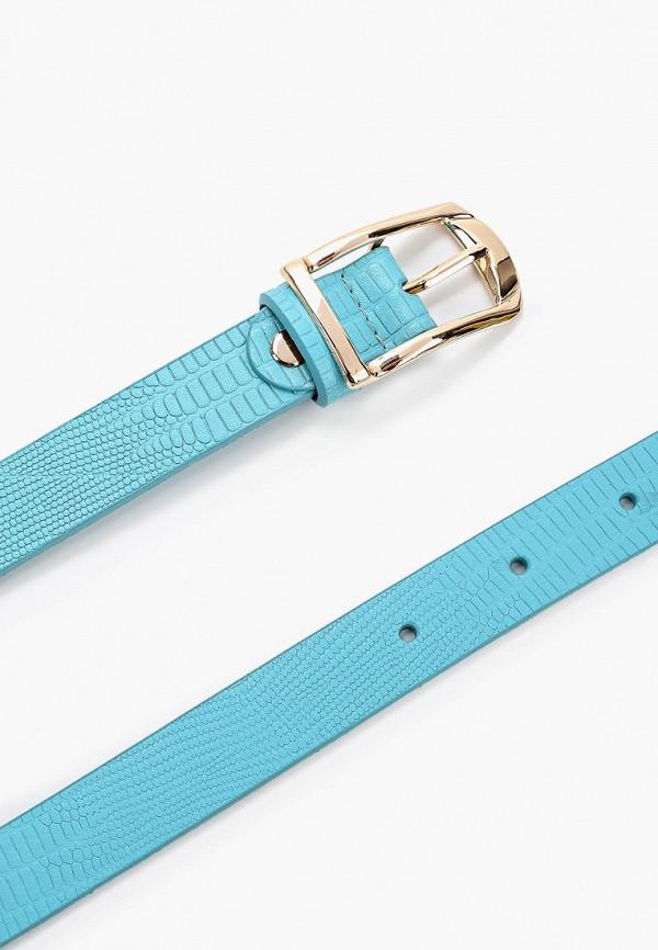 Фото 2 - Ремень Franchesco Mariscotti голубого цвета