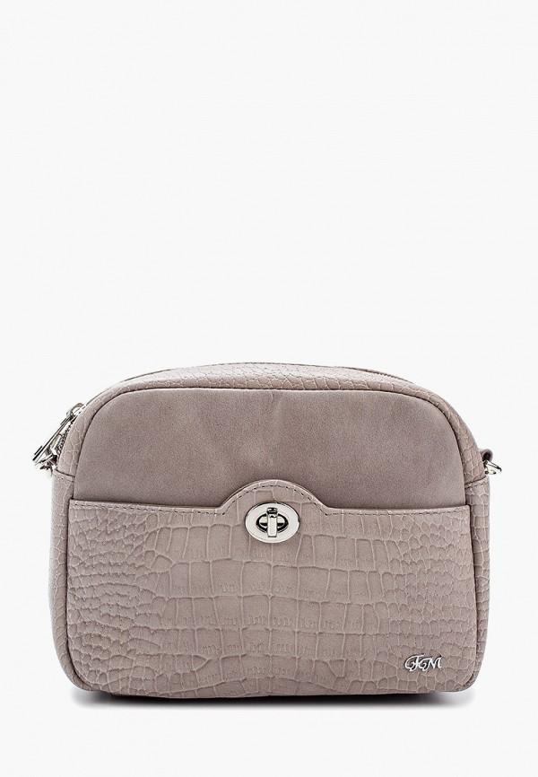 женская сумка через плечо franchesco mariscotti, серая