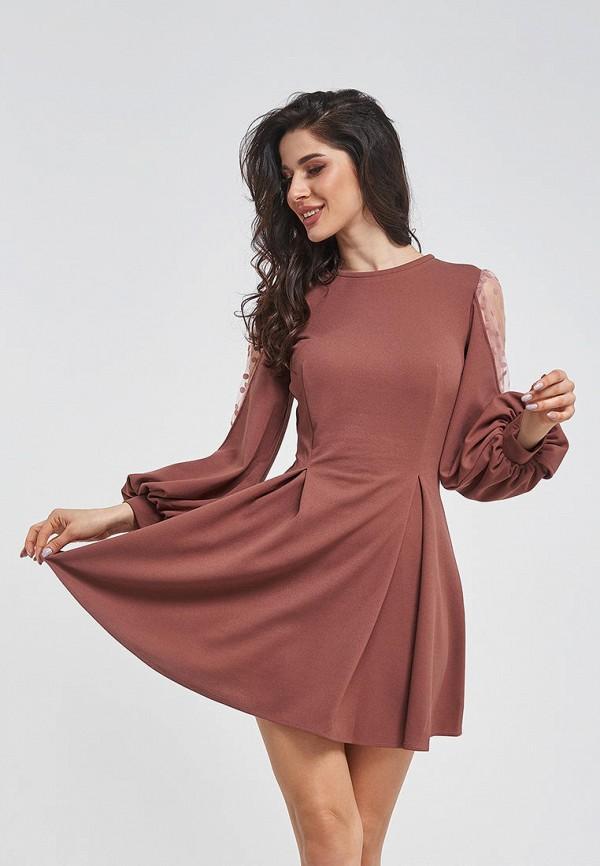 женское вечерние платье magnet, коричневое