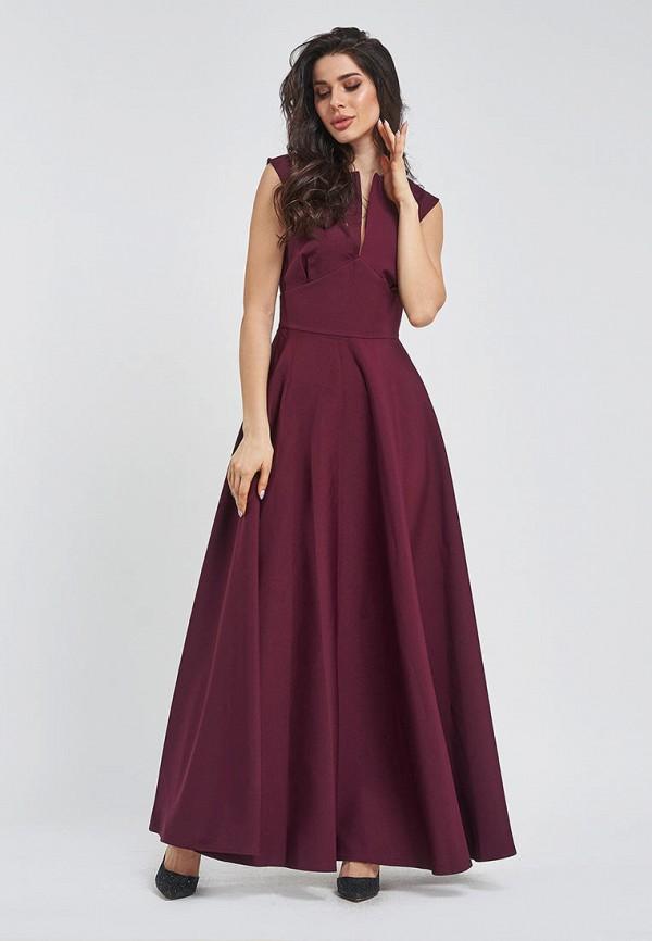 женское вечерние платье magnet, бордовое