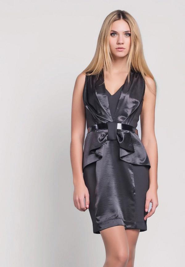 женское вечерние платье ricamare, серое