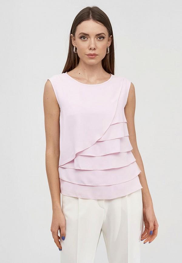 женская блузка natali bolgar, розовая