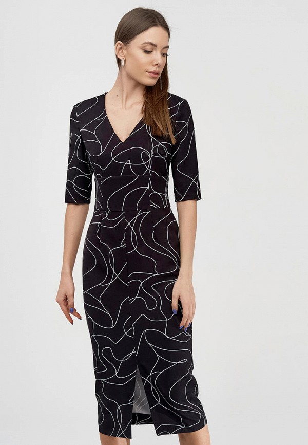 женское платье-футляр natali bolgar, черное