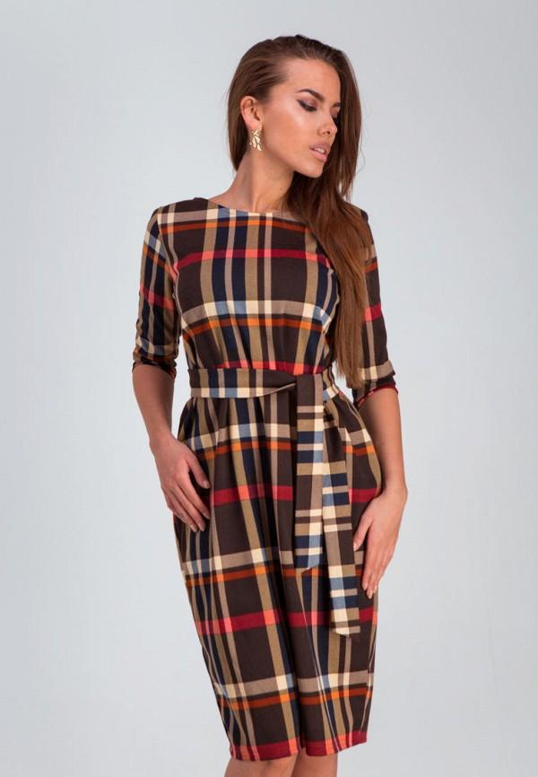 женское повседневные платье karree, коричневое