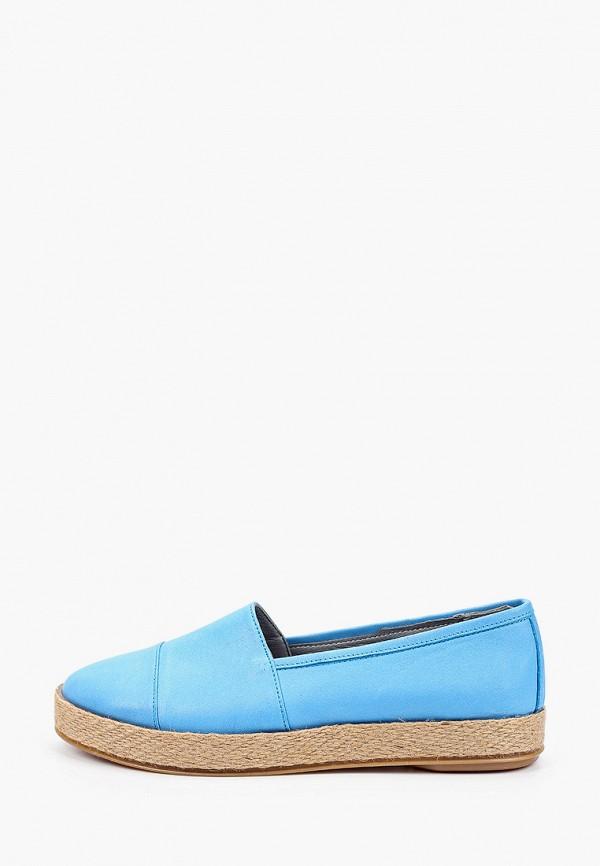 женские туфли с закрытым носом airbox, голубые