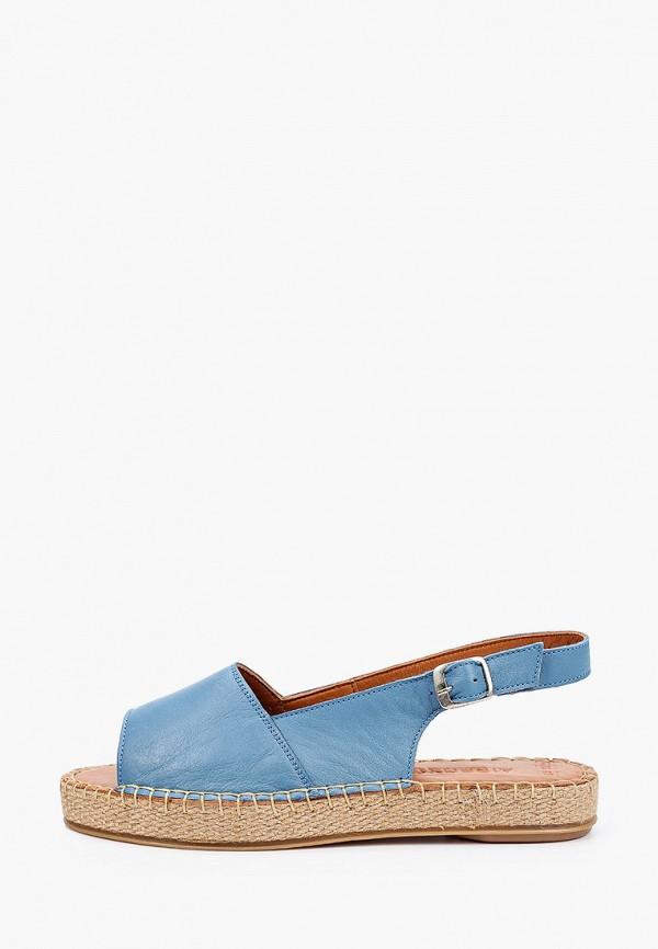 женские сандалии airbox, голубые